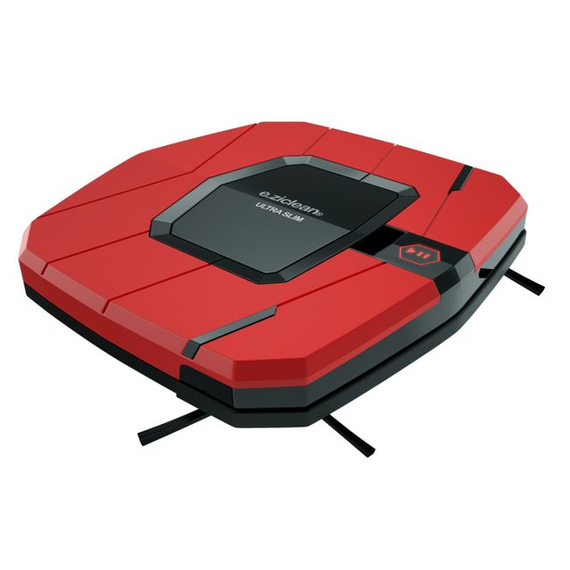 E-ZICLEAN Robot aspirateur e.ziclean ULTRA SLIM RED V2 Plus fin, équipé d'une batterie Lithiumet d'une navigation méthodique encoreplus performante, e.ziclean® ULTRA SLIMV2 s'affirme comme le mo