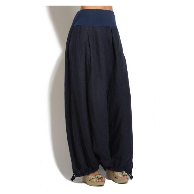 femme Pantalon Achat Vente 100 Lin Sarouel cher pas 7cBgqT