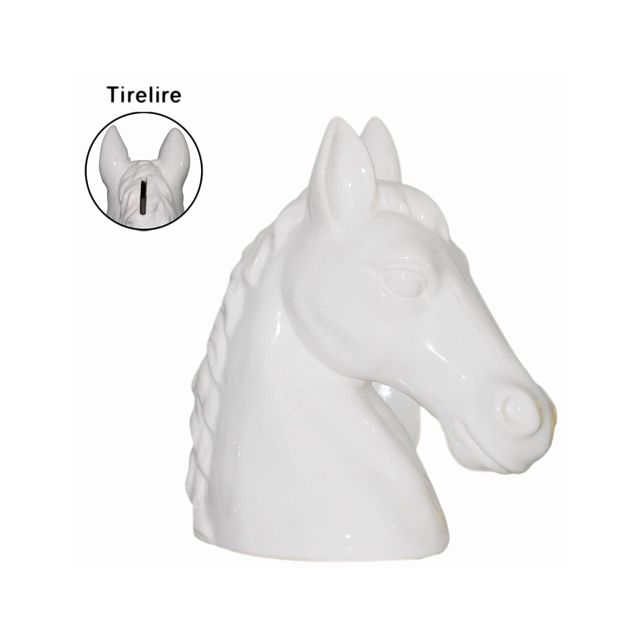 Sudtrading Tirelire cheval blanc