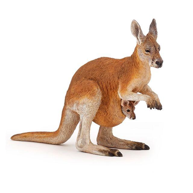 Papo - Figurine Kangourou et son bébé - pas cher Achat   Vente Animaux -  RueDuCommerce 6c90405a187