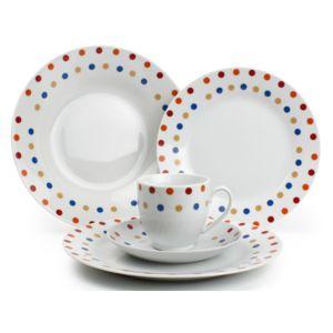 Yong - Service de table en porcelaine 30 pièces Polka Dots