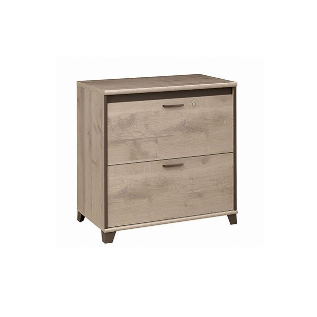 Commode 2 tiroirs 80x72x46cm naturel - Rafael