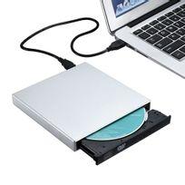 Alpexe - Lecteur/ Graveur, Graveur Cd Dvd externe, Lecteur enregistreur graveur dvd compatible avec Apple Mac Os : MacBook, MacBook Pro, MacBook Air, Windows 2000/ME/XP/Vista/Windows7 et d'autres ordinateurs portables/ de bureau - Argent