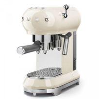 Smeg - Machine à café Expresso Années 50 - 15 Bars Crème Ecf01CREU