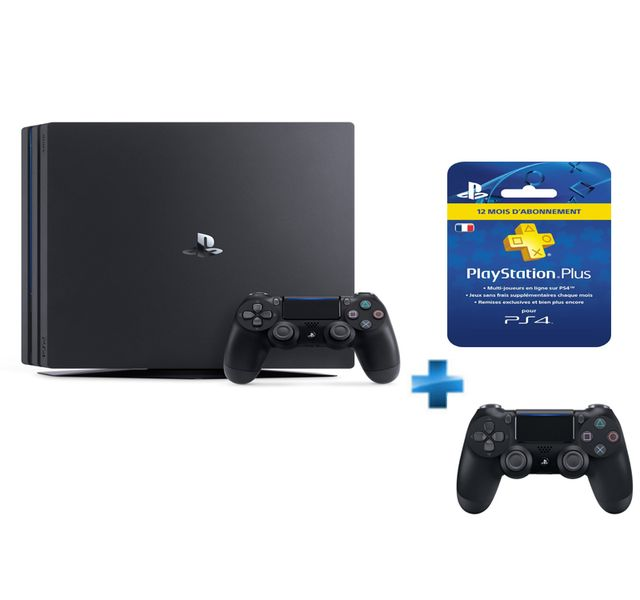 sony pack ps4 1 to chassis d black pro abonnement 12. Black Bedroom Furniture Sets. Home Design Ideas