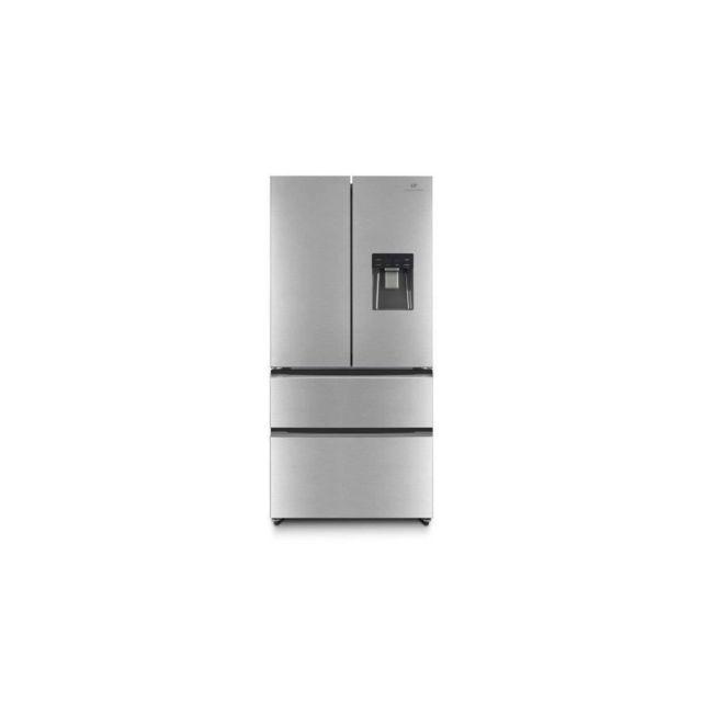 CONTINENTAL EDISON CERAF536DIX Refrigerateur multi portes-536 L 350+186 -Froid ventile- Classe A +-L 83,3 x H 182 cm-Inox