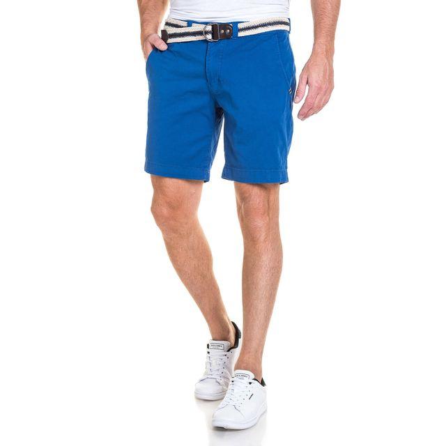 Legenders - Short chino homme bleu royal avec ceinture - pas cher ... 1540070f650