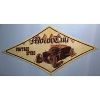 Universel - Plaque tole épaisse motorcult vintage speed 71cm hot rod us