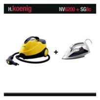 HKOENIG - NETTOYEUR VAPEUR NV6200 2000W 4 BARS +FER SG8C WINKEL