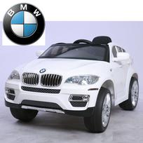 Bmw - Voiture électrique enfant Suv 4x4 X6 à commande parentale 12V Blanc