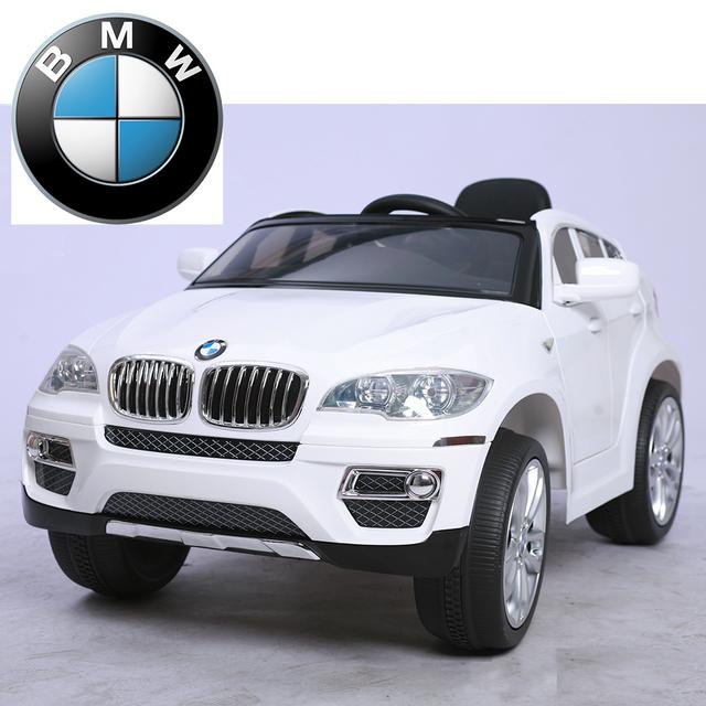 bmw voiture lectrique enfant suv 4x4 x6 commande parentale 12v blanc pas cher achat. Black Bedroom Furniture Sets. Home Design Ideas