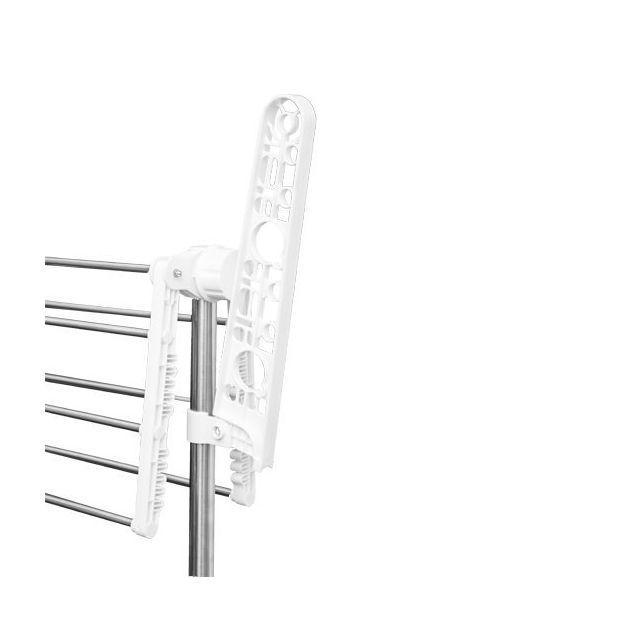 HOMCOM - Sechoir à linge étendoir pliable ailes latérales sur 3 niveaux 62