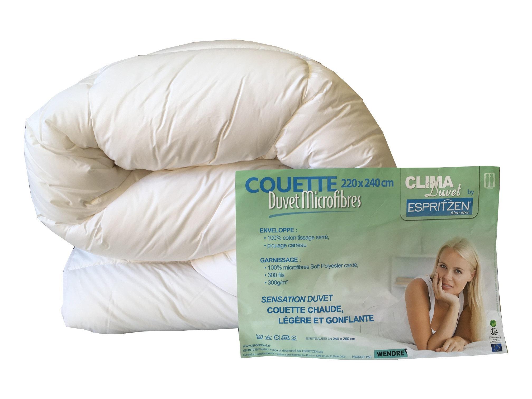 Couette Clima Duvet très confortable très légère 260x240cm de 300g/m²