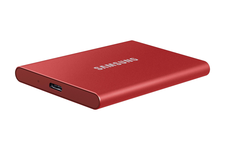 T7 Rouge métallique - 500 Go - USB 3.2 Gen 2