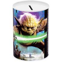 Disney - Tirelire Métal Licence Décor Stars Wars Yoda Sabre