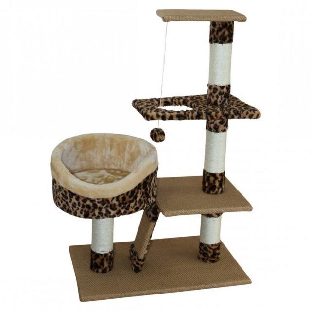 475d2f53ac1 Mobili Rebecca - Griffoir Centre d activité pour chat Beige Marron Sisal  Divertissement