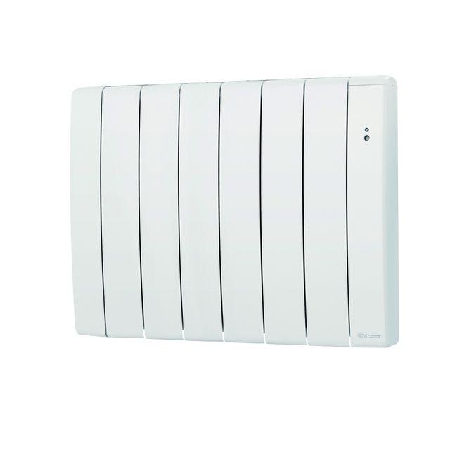 thermor radiateur inertie fluide alliage aluminium bilbao 2 blanc 750 w 670x590mm pas. Black Bedroom Furniture Sets. Home Design Ideas