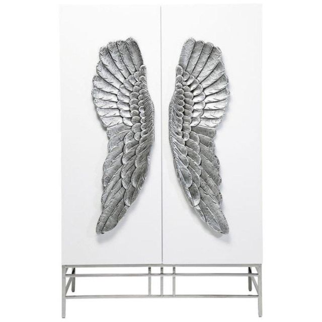 Inside 75 Armoire Angel laqué blanc, 2 portes