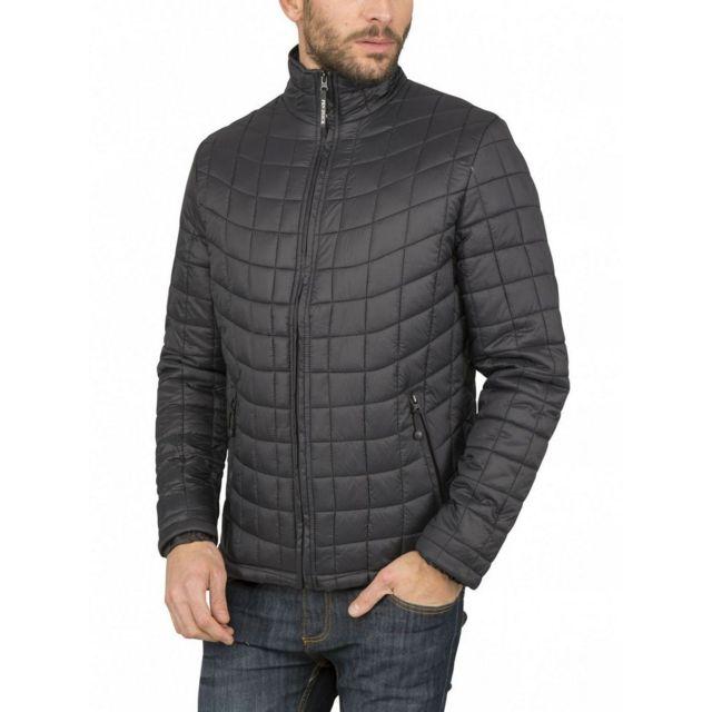 4ab32a00d49 Fashion Cuir - Blouson matelassé Couleur - noir