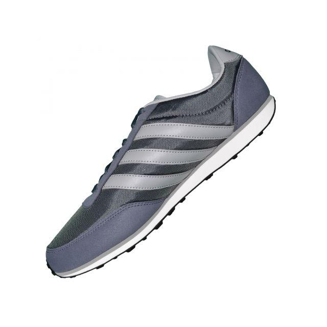 size 40 739e9 c04ca ... Adidas Neo - adidas Neo - Basket - Homme - V Racer Nylon F38508 - Gris  ...