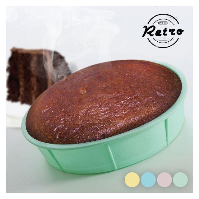 Totalcadeau Un moule silicone pour tartes 27 x 6 cm - Gateau cuisine patisserie Couleur - Rose
