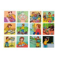 Vinco Educational - cartes dessins pvc magnétique 8 x 8 cm - boite de 26