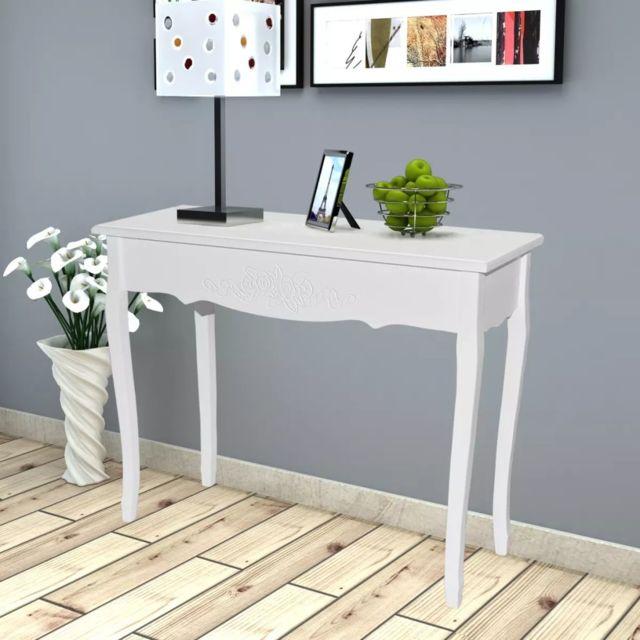 GÉNÉRIQUE sublime Consoles gamme Athènes Table de console et coiffeuse Blanc