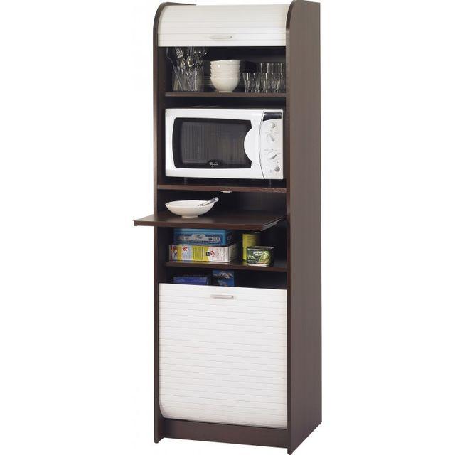Meuble Micro Onde Cuisine simmob - grand meuble micro-onde meuble de cuisine - coloris - wengé