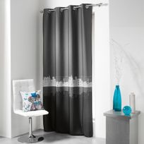Cdaffaires Rideau a oeillets 140 x 240 cm polyester imprime d/f lulu urban Anthracite