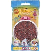 Hama - 207-30 - Loisirs CrÉATIFS - Perles Et Bijoux - Sachet 1000 Perles Rouge Brun
