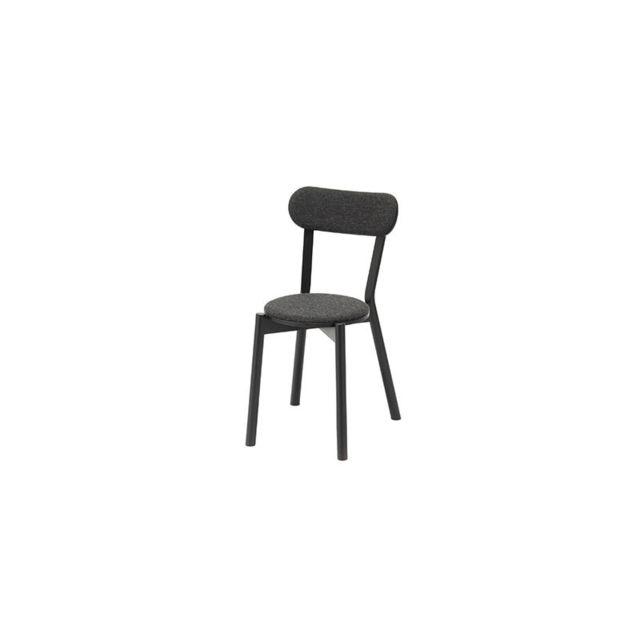Karimoku New Standard Chaise Castor rembourrée - chêne noir