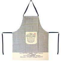 Promobo - Tablier De Cuisine Imprimé Brasserie Grand Chef Restaurant Vichy Noir