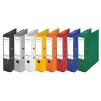 Esselte - Classeurs à levier plastifiés Chromos Plus coloris classique- dos 8 cm - Lot de 10