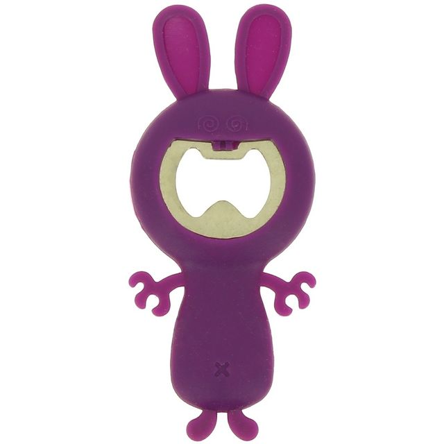 Promobo Décapsuleur Canette Silicone Picto Lapin Fun Prune