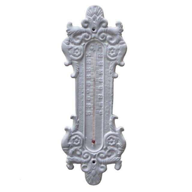 L'ORIGINALE Deco Grand Thermomètre Mural en Fonte Gris 37 cm