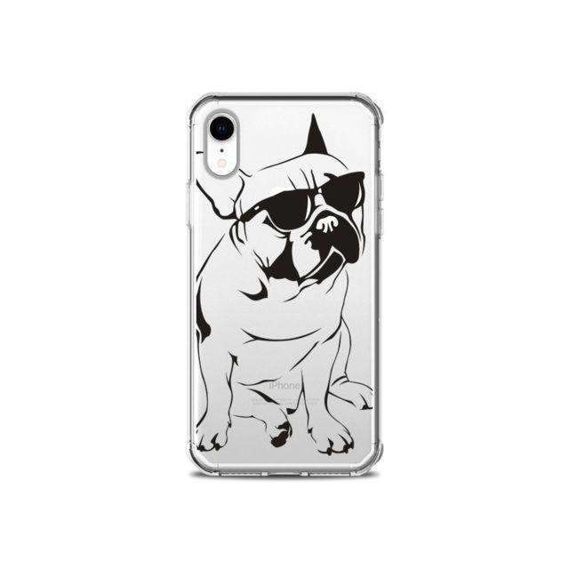 coque iphone xr transparente chien