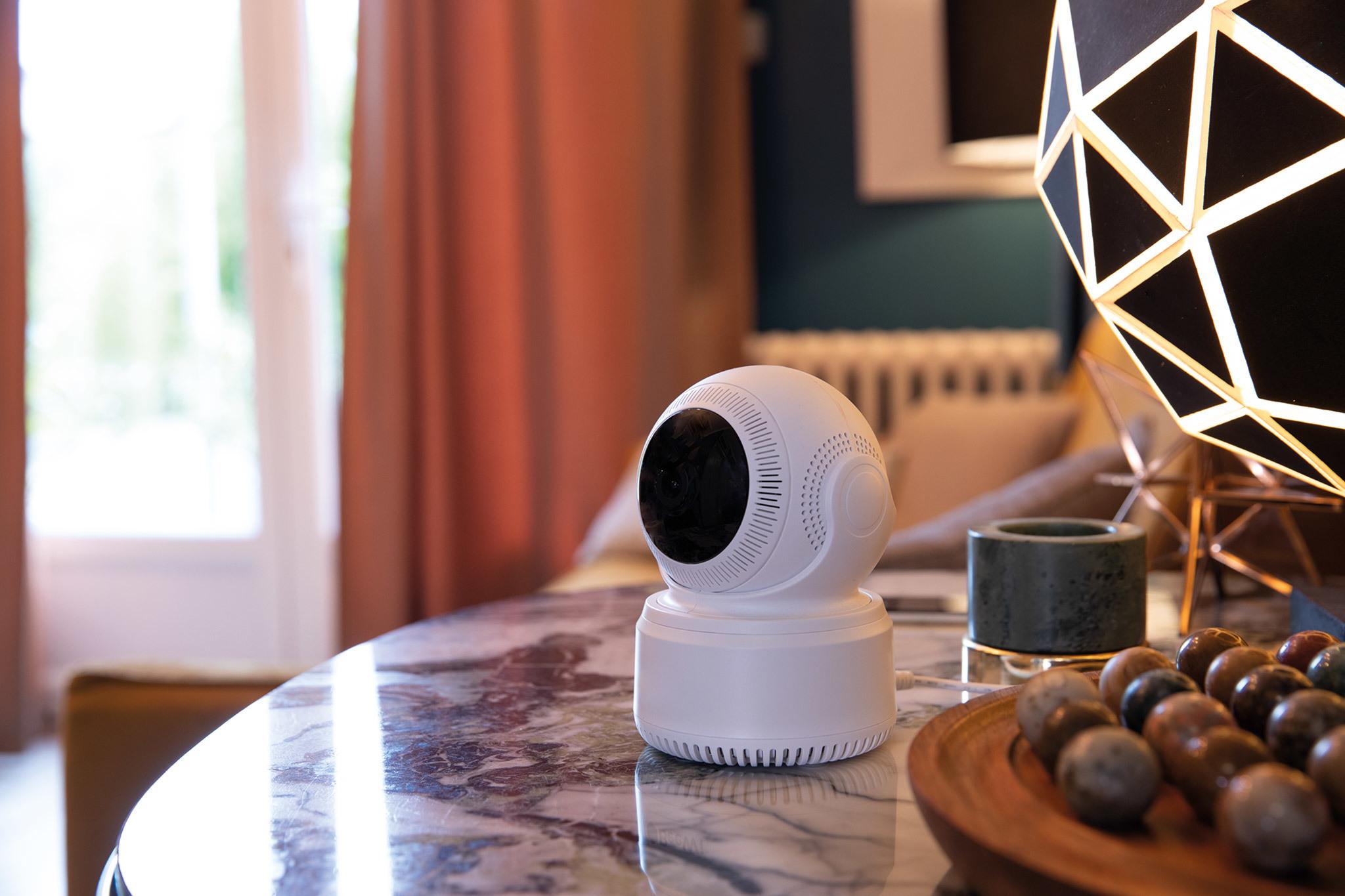 Caméra intérieure rotative connectée Full HD 1080p