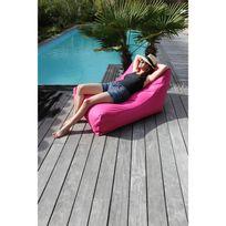 Sit in pool - Pouf de jardin en polyester gonflable déhoussable imperméable Kiwi