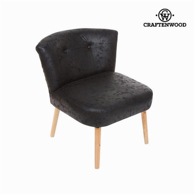 Craftenwood Fauteuil rétro noir ancien by