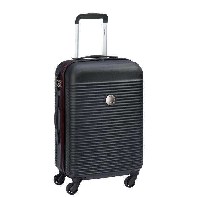 fd61aac63c DELSEY - Valise trolley KARIBA - Noir - 55 cm - 4 roues - ABS - pas cher  Achat / Vente Valises, trolleys - RueDuCommerce