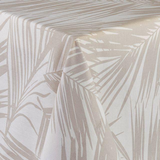 TEX HOME - Nappe imprimé LA HAVANE en coton Beige