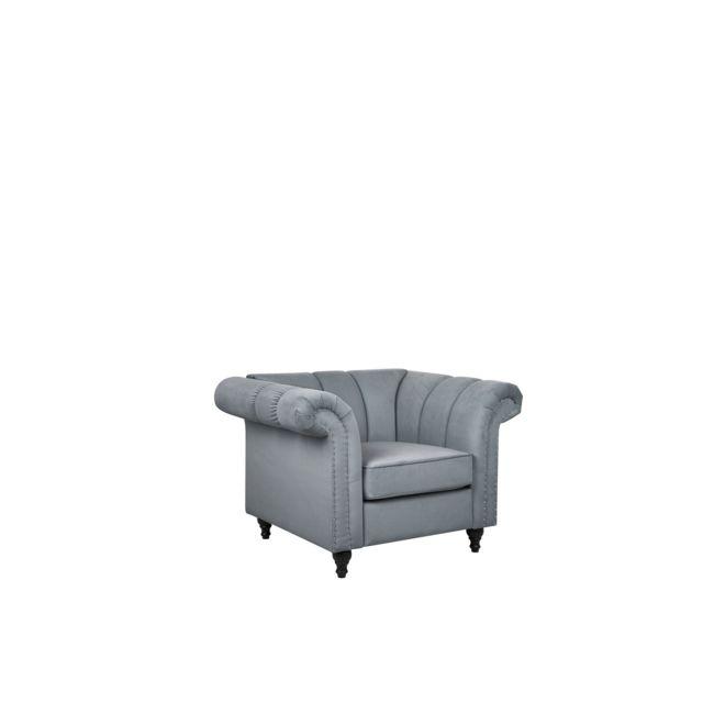 BELIANI Fauteuil en tissu gris LAKSELVA - gris