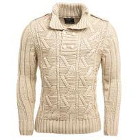 BLZ Jeans - Pull tricot beige pour homme