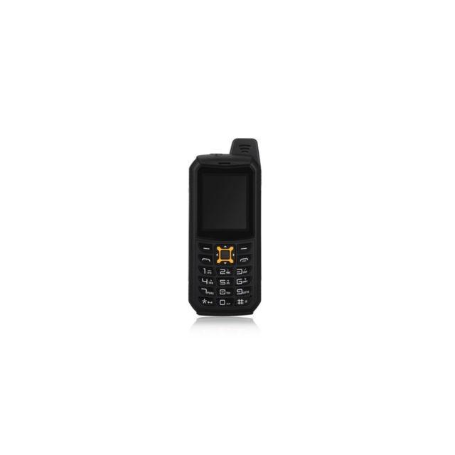 Auto-hightech Téléphone robuste 2 pouces imperméable, anti-chute, anti-poussière - Noir