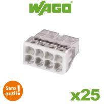 Wago - Flacon de 25 mini bornes de connexion automatique 8 entrées S2273