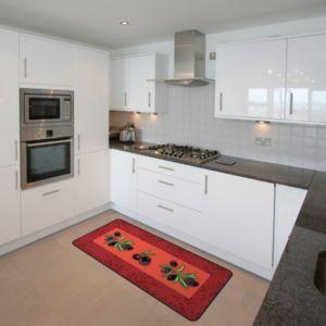 Idmat tapis de cuisine avec motifs olives 50x150 cm for Tapis de cuisine carrefour