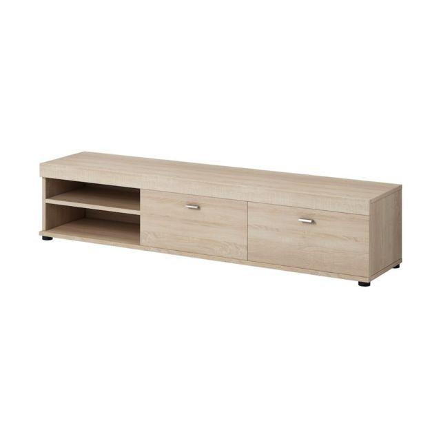 meuble tv 140 cm noir. Black Bedroom Furniture Sets. Home Design Ideas