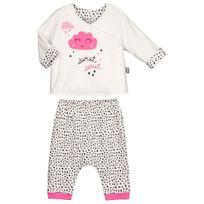 Petit Beguin - Ensemble bébé fille gilet double épaisseur + sarouel Bulle de Coton - Couleur - Ecru, Longueur des manches - Manches longues, Taille - 36 mois 98 cm