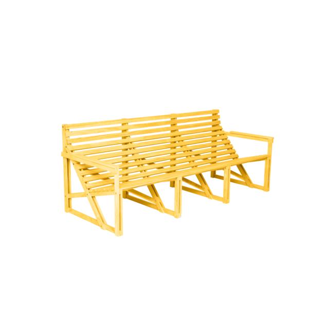 Weltevree Banc Patio - jaune - 4-5 Personnes