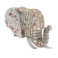 Cardboard Safari - Tête Eléphant en Carton Recyclé Paris - Taille M